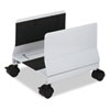 Metal Mobile CPU Stand, 10-1/4w x 10-5/8d x 9-3/4h, Light Gray