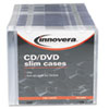Picture of CDDVD Polystyrene Thin Line Storage Case Clear 100Pack