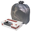 Low-Density Commercial Can Liners, 60gal, 1.3mil, Gray, 100/carton