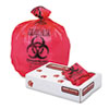 Health Care biohazard Printed Liners, 1.3mil, 24 X 32, Red, 250/carton