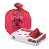 Health Care biohazard Printed Liners, 1.3mil, 33 X 39, Red, 150/carton