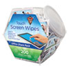 Touch Screen Wipes, 5 X 6, 200 Individual Foil Packets
