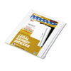 Side tab legal index divider set, Allstate® style.