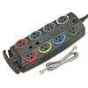 Kensington® SmartSockets® Color-Coded Eight-Outlet Adapter Model Surge Protector