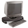 CRT/LCD Stand with Keyboard Storage, 23 x 13 1/4 x 3, Black