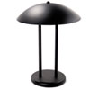 "Two-Pole Dome Incandescent Desk/Table Lamp, 16-1/4"" High, Matte Black"