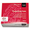 Inkless Fingerprint Pad, 2 1/4 X 1 3/4, Black, Dozen