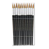Artist Brush, Size 12, Camel Hair, Round, 12/Pack