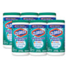 Disinfecting Wipes, Fresh Scent, 7 X 8, White, 75/canister, 6 Canisters/carton