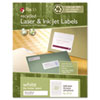 Recycled multipurpose labels for inkjet and laser printers.