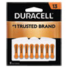 DURACELL PRODUCTS COMPANY DA13B8 Hearing Aid Battery, #13, 8/Pack