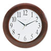 Corporate Wall Clock, 12-3/4, Cherry