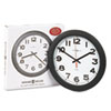 "Norcross Auto Daylight-Savings Wall Clock, 12-1/4"", Black, 1 AA"