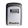 Locking Combination 5 Key Steel Box, 3 1/4w x 1 1/2d x 4 5/8h, Black/Silver 5401D
