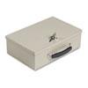 Heavy-Duty Steel Fire-Retardant Security Cash Box, Key Lock,