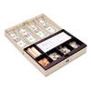 Heavy-Duty Steel Lay-Flat Cash Box w/6 Compartments, Combination Lock, Sand