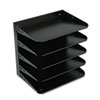 Steelmaster Multi-Tier Horizontal Letter Organizers, Five Tier, Steel, Black
