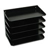 Steelmaster Multi-Tier Horizontal Legal Organizers, Five Tier, Steel, Black