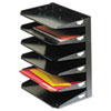 Steelmaster Multi-Tier Horizontal Letter Organizers, Six Tier, Steel, Black