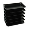 Steelmaster Multi-Tier Horizontal Legal Organizers, Six Tier, Steel, Black