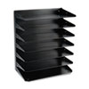 Steelmaster Multi-Tier Horizontal Legal Organizers, Seven Tier, Steel, Black