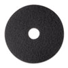 Low-Speed Stripper Floor Pad 7200, 12 Diameter, Black, 5/carton