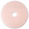 Ultra High-Speed Eraser Floor Burnishing Pad 3600, 19 Diameter, Pink, 5/carton