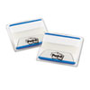 File Tabs, 2 X 1 1/2, Lined, Blue, 50/pack