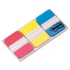 File Tabs, 1 X 1 1/2, Assorted Primary Colors, 66/pack