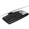 Positive Locking Keyboard Tray, Standard Platform, 21 3/4 Track, Black