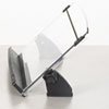In-Line Adjustable Desktop Copyholder, Plastic, 150 Sheet Capacity, Black/Clear