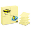 Pop-Up Note Refills, 3 x 3, Canary Yellow, 24 100-Sheet Pads/Pack