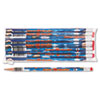 Decorated Wood Pencil, Super Reader, HB #2, Blue, Dozen