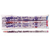Decorated Woodcase Pencil, 100th Day, HB #2, Silver, Dozen