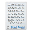Chart Tablets w/Cursive Cover, Ruled, 24 x 32, White, 25 Sheets