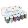 Picture of Spectra Glitter 04 Hexagon Crystals Assorted 75 oz Shaker-Top Jar 12Pack