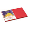 Construction Paper, 58 Lbs., 12 X 18, Red, 50 Sheets/pack