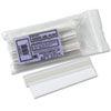 Clear plastic label holders with repositionable adhesive.