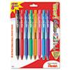 WOW! Retractable Ballpoint Pen, 1mm, Assorted Barrel, Assorted Ink, 8/Pack