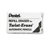 ERASER REFILL FOR PENTEL TWIST-ERASE MECHANICAL PENCILS, 3/TUBE