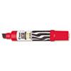 Jumbo Refillable Permanent Marker, Chisel Tip, Red