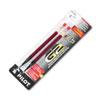 Refill For G2 Gel, Dr. Grip Gel/ltd, Execugel G6, Q7, Fine Tip, Red, 2/pack