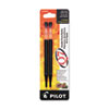 REFILL FOR PILOT RETRACTABLE GEL ROLLER BALL PENS, NEEDLE TIP, FINE POINT, BLACK INK, 2/PACK