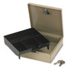 Steel Personal Cash/security Box W/4 Compartments, Key Lock, Pebble Beige