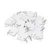 Replacement Slotted Key Cabinet Tags, 1 5/8 x 1 1/2, White, 20/Pack