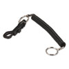 Key Coil Chain 'N Clip Wearable Key Organizer,Flexible Coil, Black