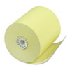"Single Ply Thermal Cash Register/pos Rolls, 3 1/8"" X 230 Ft., Canary, 50/ctn"