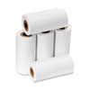 "One Ply Adding Machine/Calculator Rolls, 2 1/4"" x 17 ft, White, 5/Pack"