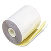 "Paper Rolls, Teller Window/Financial, 3 1/4"" x 80 ft, White/Canary, 60/Carton"