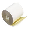 "Paper Rolls, Teller Window/Financial, 3"" x 90 ft, 2 Ply White/Canary, 50/Carton"
